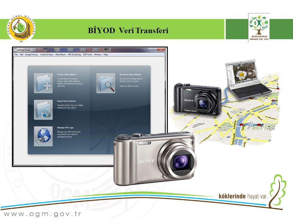 JetPhoto Studio Programından Sisteme Veri Transferi G ikonu fotğrafın GPS verisi içerdiğini gösterir.