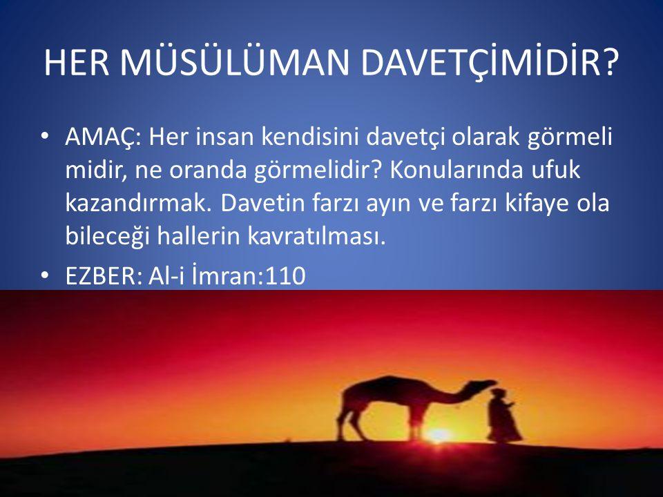 • Ali İmran 110:Siz insanlar için ortaya çıkarılmış en hayırlı ümmetsiniz; iyiliği emreder, kötülükten sakındırır ve Allah a inanırsınız.