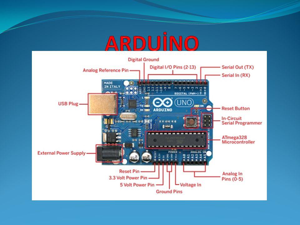  Arduino açık kaynak kodlu bir mikrodenetleyici kartıdır.