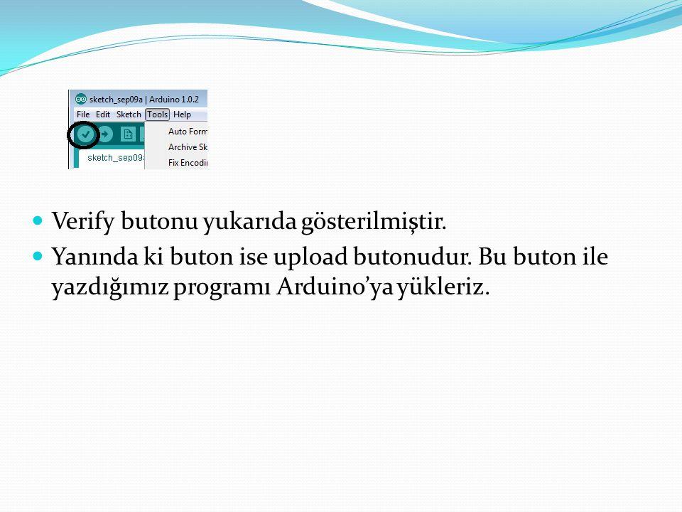 Dijital Giriş Çıkış Fonksiyonları  Dijital giriş/çıkış, 1 veya 0 bilgisini okumak yada göndermek için kullanılıyor.