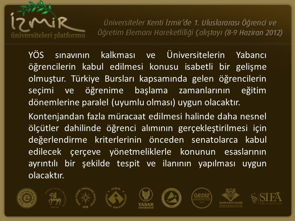 YÖS sınavının kalkması ve Üniversitelerin Yabancı öğrencilerin kabul edilmesi konusu isabetli bir gelişme olmuştur. Türkiye Bursları kapsamında gelen