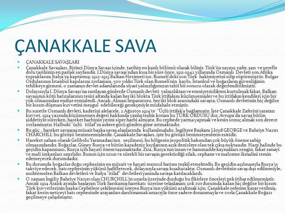 SAVAŞIN NEDENİ Çanakkale (Gelibolu) Savaşları Nedenleri 1-) 1911-1912 yıllarında Osmanlı Devleti son Afrika toprakları olan Trablusgarp ve Bingazi'yi