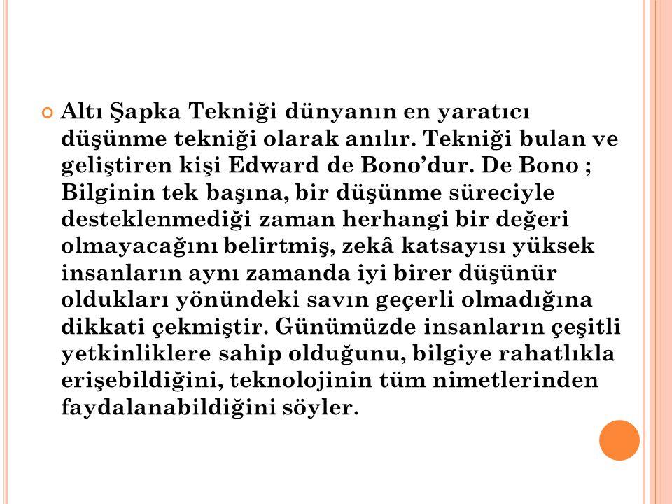 De Bono: Yaşadığımız teknoloji çağında bilgiye erişmek artık zor değil.