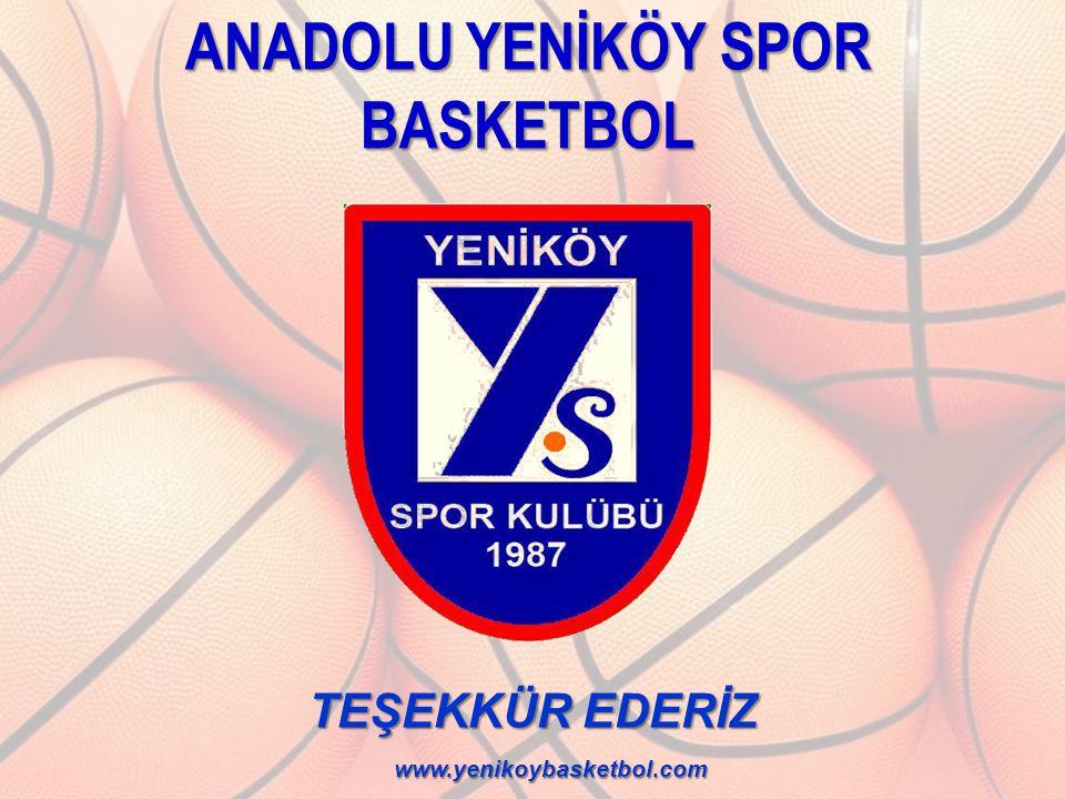 TEŞEKKÜR EDERİZ www.yenikoybasketbol.com ANADOLU YENİKÖY SPOR BASKETBOL