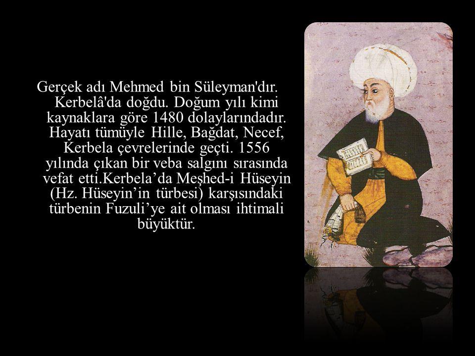 Gerçek adı Mehmed bin Süleyman'dır. Kerbelâ'da doğdu. Doğum yılı kimi kaynaklara göre 1480 dolaylarındadır. Hayatı tümüyle Hille, Bağdat, Necef, Kerbe