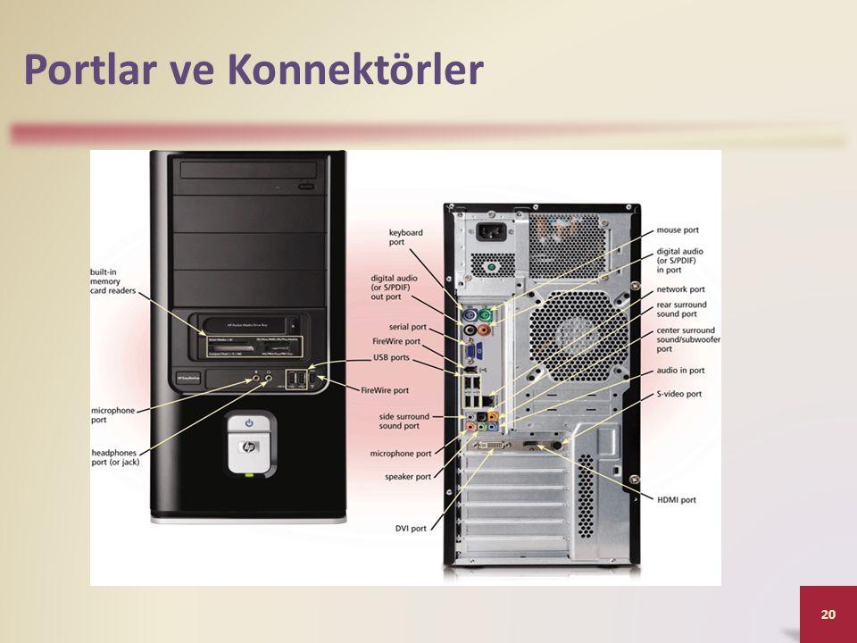 Portlar ve Konnektörler 20