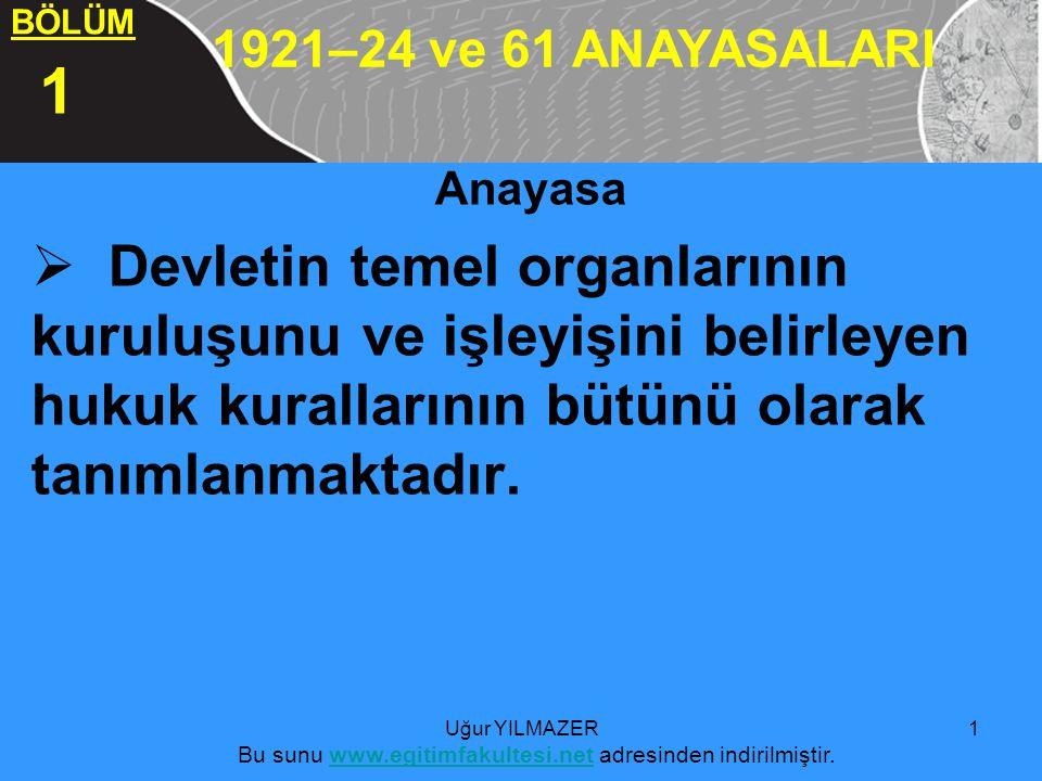 5555555555 Anayasa  Devletin temel organlarının kuruluşunu ve işleyişini belirleyen hukuk kurallarının bütünü olarak tanımlanmaktadır.