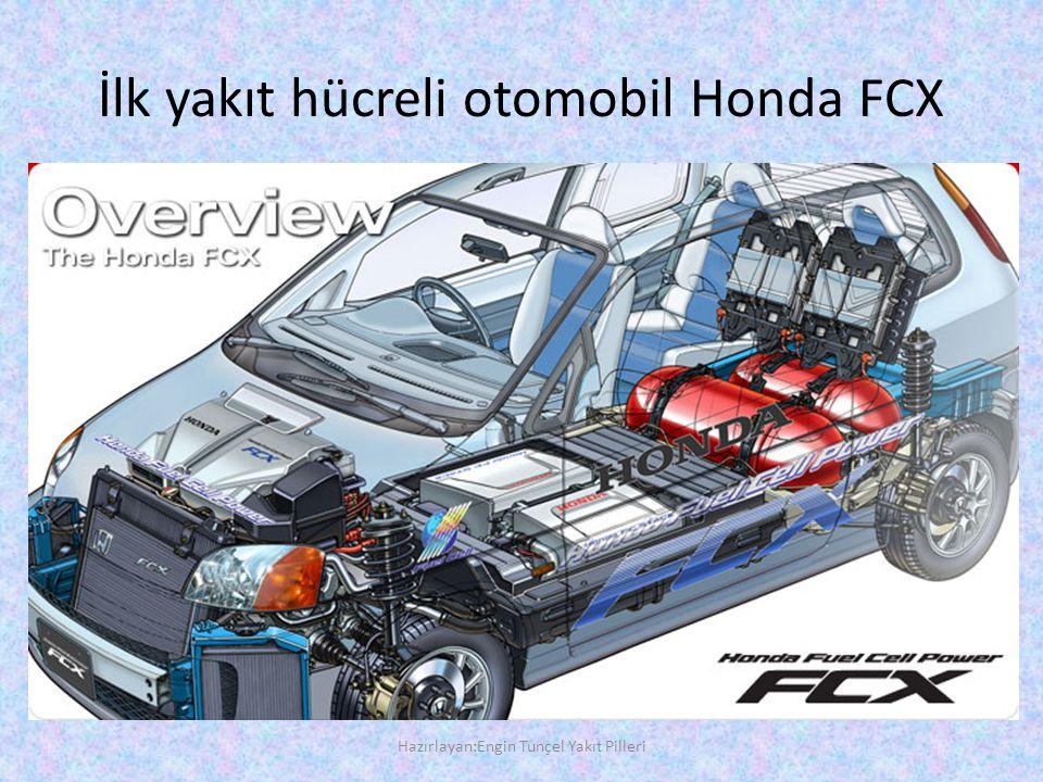 İlk yakıt hücreli otomobil Honda FCX Hazırlayan:Engin Tunçel Yakıt Pilleri