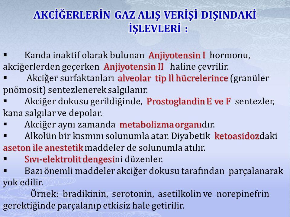 Anjiyotensin I Anjiyotensin II  Kanda inaktif olarak bulunan Anjiyotensin I hormonu, akciğerlerden geçerken Anjiyotensin II haline çevrilir.
