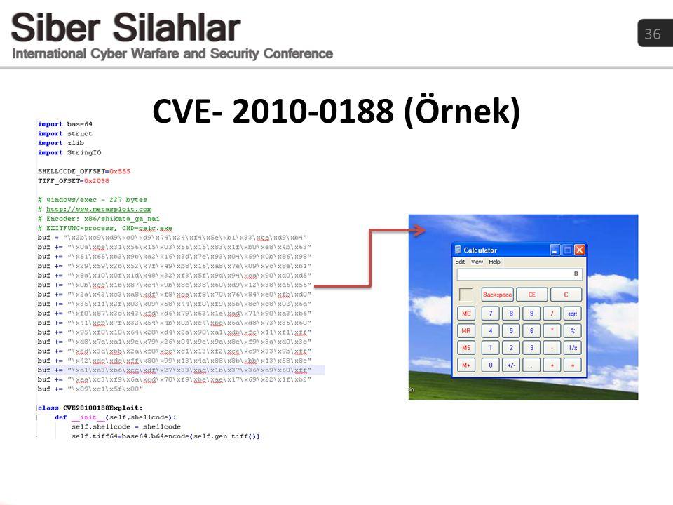 36 CVE- 2010-0188 (Örnek)