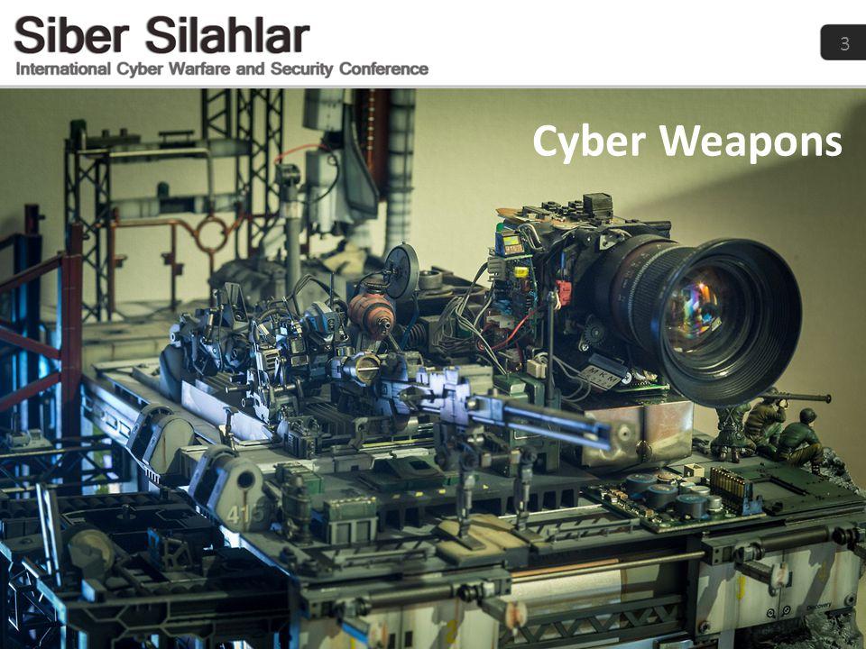 14 Siber Silah Endüstrisi 4 Milyar Dollar 2014-2024 • Defensive Siber Silahlar • Offensive Siber Silahlar