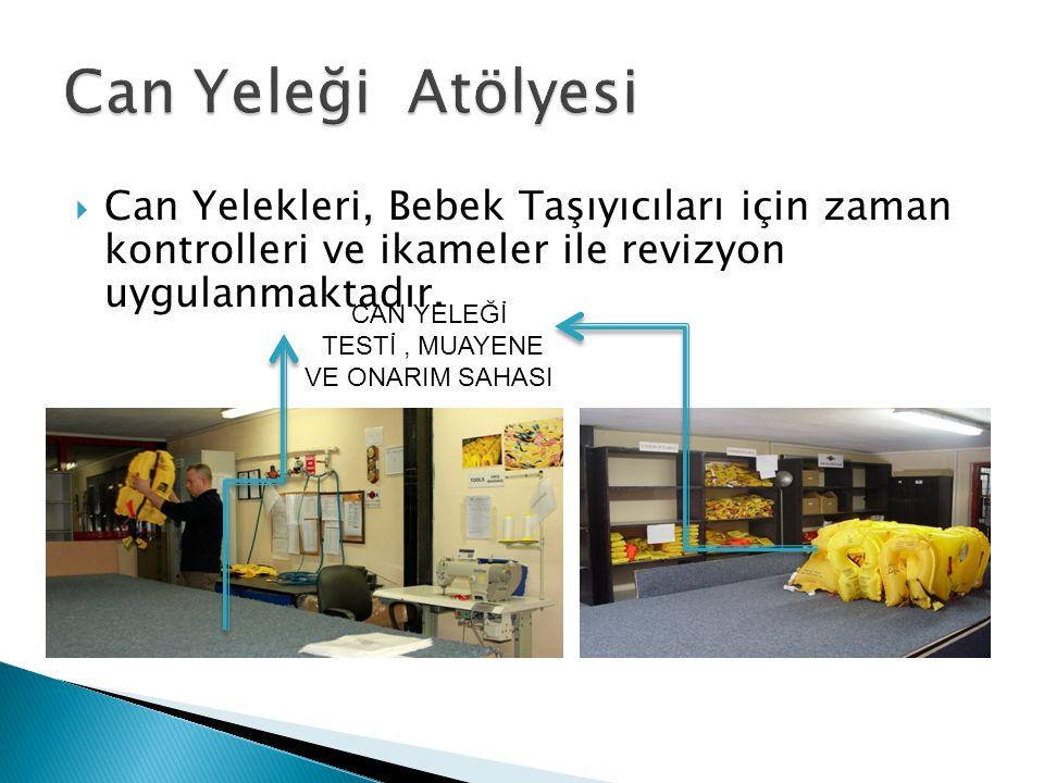  Can Yelekleri, Bebek Taşıyıcıları için zaman kontrolleri ve ikameler ile revizyon uygulanmaktadır.