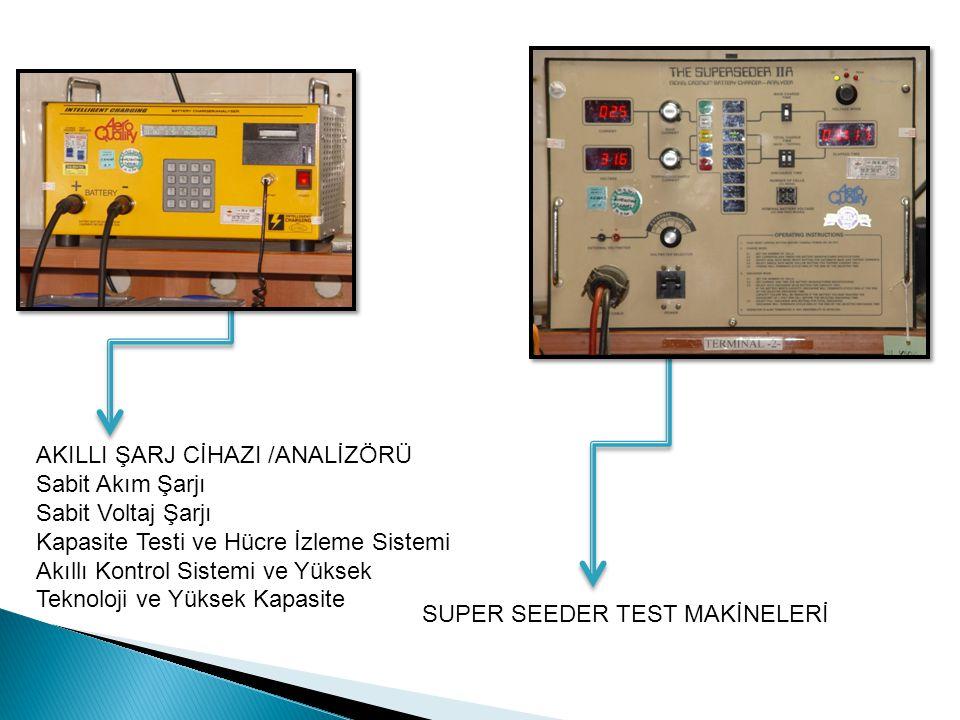 AKILLI ŞARJ CİHAZI /ANALİZÖRÜ Sabit Akım Şarjı Sabit Voltaj Şarjı Kapasite Testi ve Hücre İzleme Sistemi Akıllı Kontrol Sistemi ve Yüksek Teknoloji ve Yüksek Kapasite SUPER SEEDER TEST MAKİNELERİ