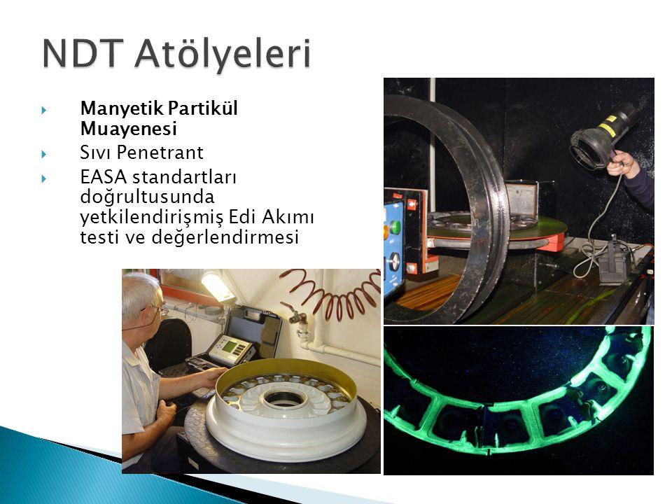  Manyetik Partikül Muayenesi  Sıvı Penetrant  EASA standartları doğrultusunda yetkilendirişmiş Edi Akımı testi ve değerlendirmesi