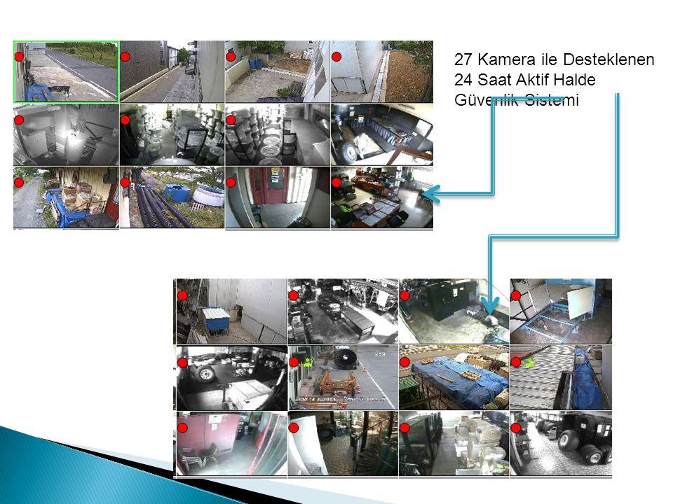 27 Kamera ile Desteklenen 24 Saat Aktif Halde Güvenlik Sistemi