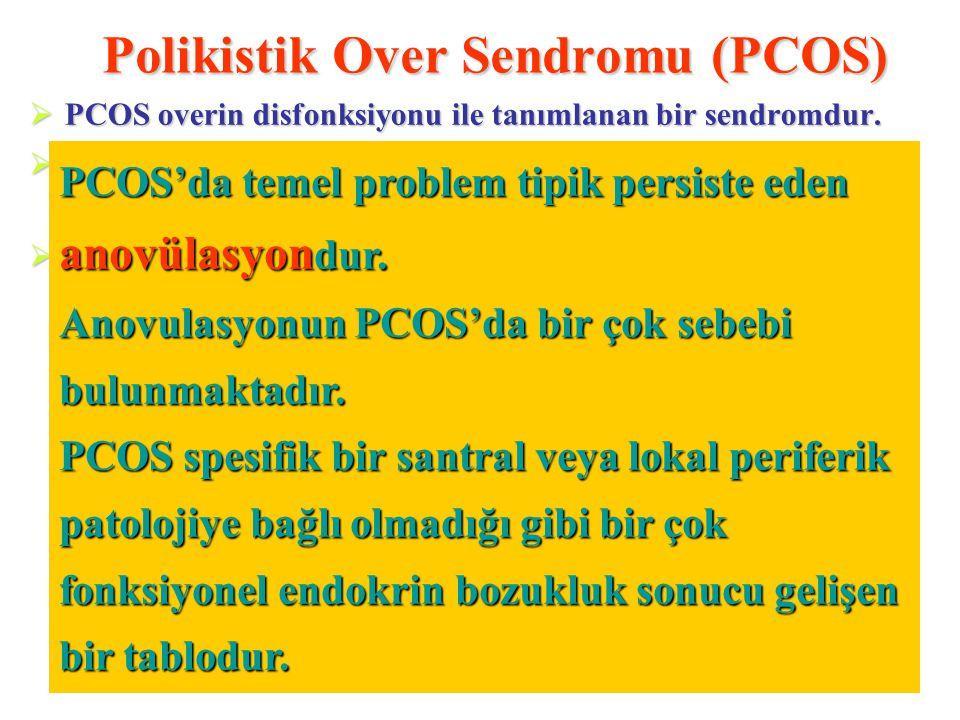 """Polikistik Over Sendromu (PCOS)  PCOS overin disfonksiyonu ile tanımlanan bir sendromdur.  """"Fonksiyonel ovarian hiperandrojenizm"""" olarakda adlandırı"""
