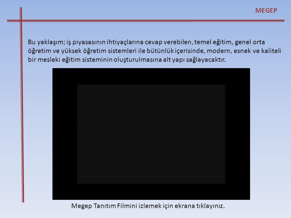 Megep Endüstriyel Kalıpçılık Tanıtım Filmini izlemek için ekrana tıklayınız.