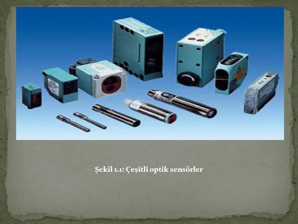 Şekil 1.1 de çeşitli optik sensörler görülmektedir.