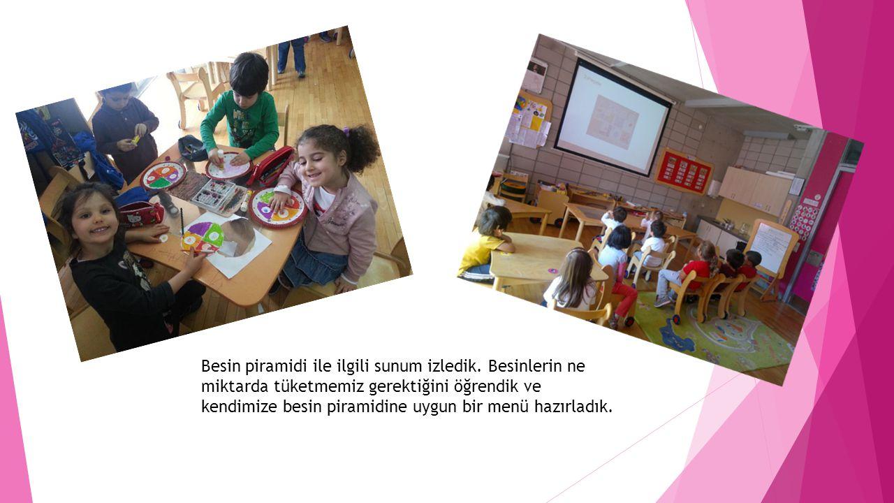 PROJE ÇALIŞMASI İLE NELER KAZANDIK •Tüm duyularımızı etkin kullandık •Meyve-sebzeler ve sağlıklı beslenme ile ilgili temel düzeyde bilgi sahibi olduk •Gözlem yapma,karşılaştırma,neden-sonuç ilişkisi kurma gibi Bilişsel becerilerimizi etkin kullandık •Oyun oynayarak temel Matematiksel becerilerimizi geliştirdik •Ellerimizi,küçük kaslarımızı etkin kullandık, onları güçlendirdik