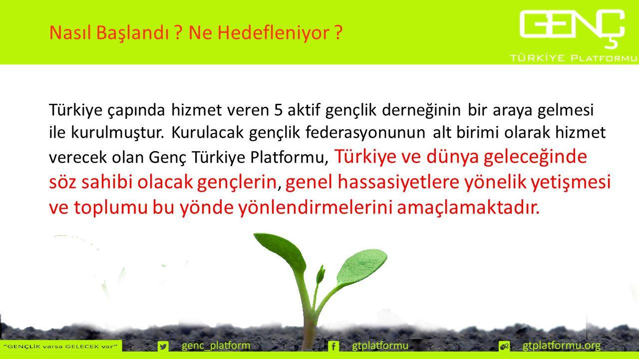 Türkiye çapında hizmet veren 5 aktif gençlik derneğinin bir araya gelmesi ile kurulmuştur.