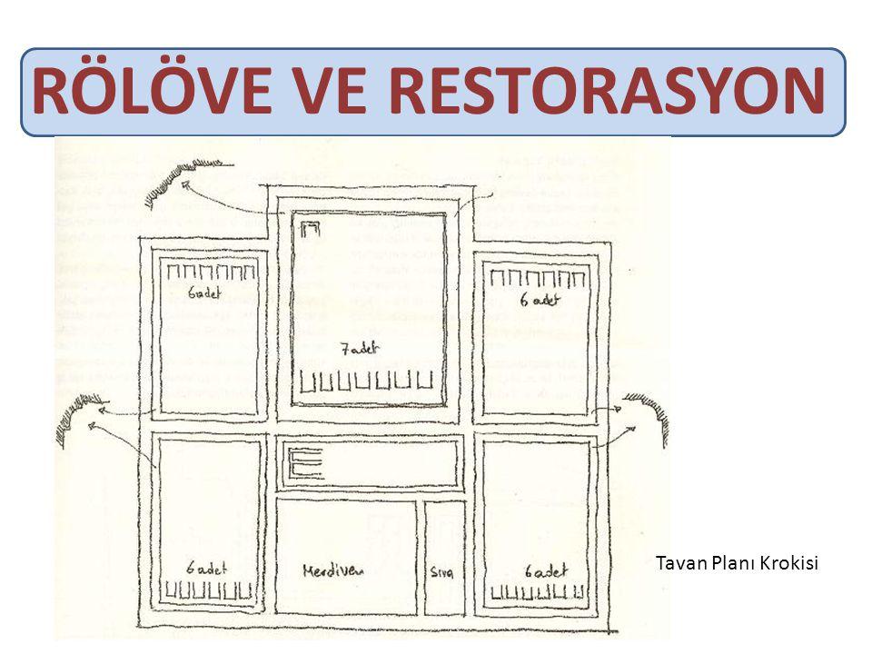 RÖLÖVE VE RESTORASYON Tavan Planı Krokisi