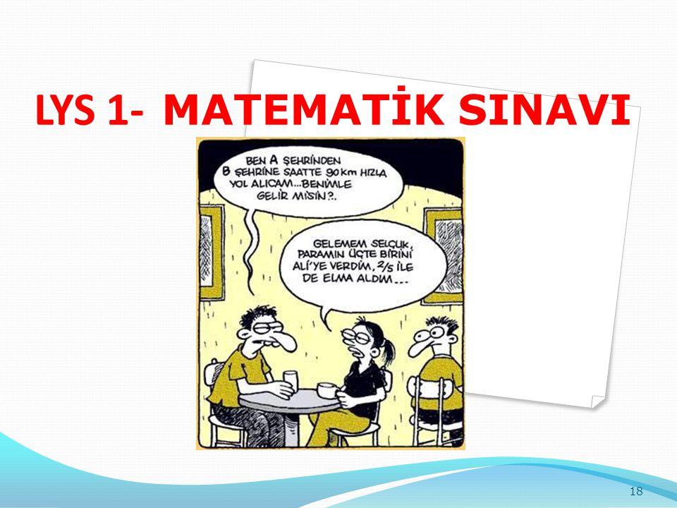 LYS 1- MATEMATİK SINAVI 18