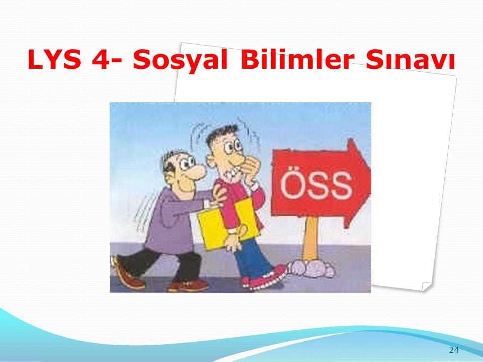 LYS 4- Sosyal Bilimler Sınavı 24