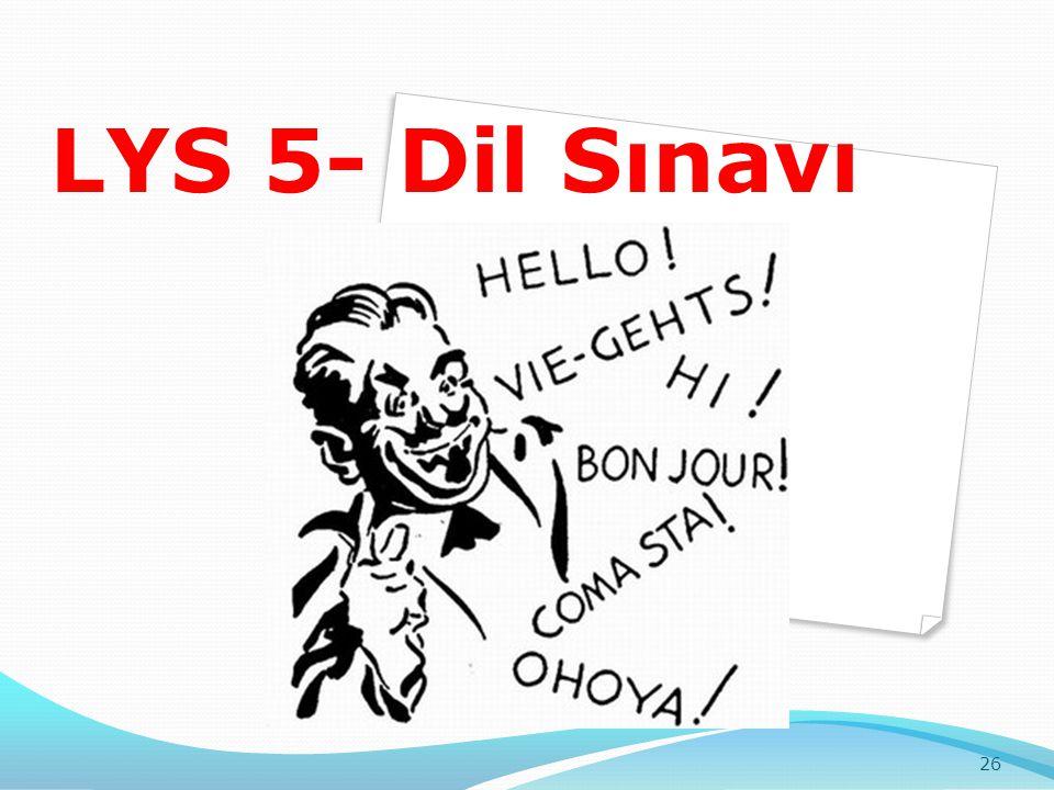 LYS 5- Dil Sınavı 26