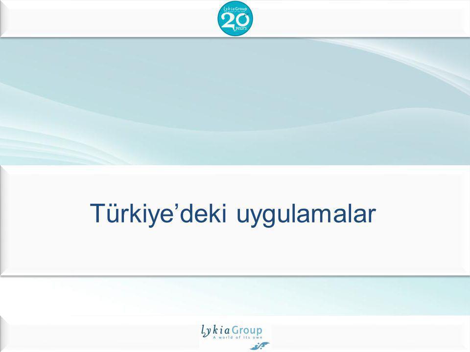 Türkiye'deki uygulamalar