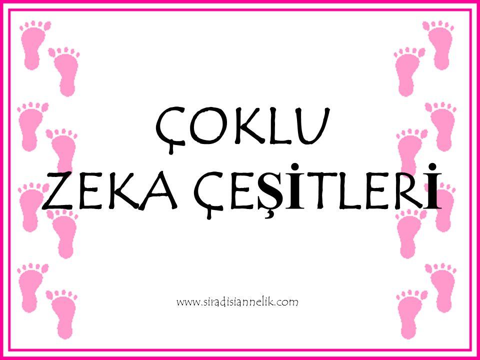 ÇOKLU ZEKA ÇE Şİ TLER İ www.siradisiannelik.com