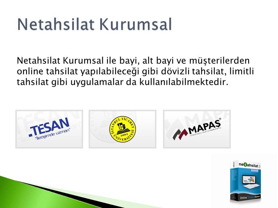 Netahsilat Kurumsal ürünlerimiz orta ve büyük ölçekteki işletmelerin kullanımına yönelik kurumsal e-tahsilat çözümleridir.