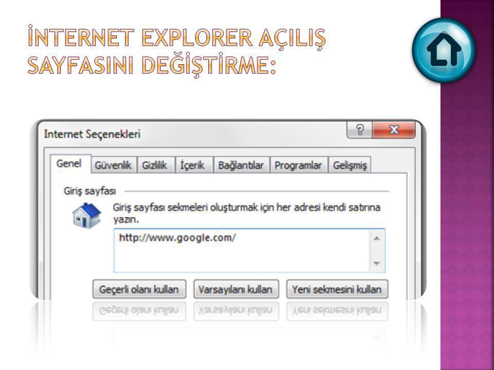  Internet Explorer'da herhangi bir web sayfasını bilgisayarınıza kaydetmek için Dosya menüsü altında yer alan Farklı Kaydet düğmesini kullanabilirsiniz.