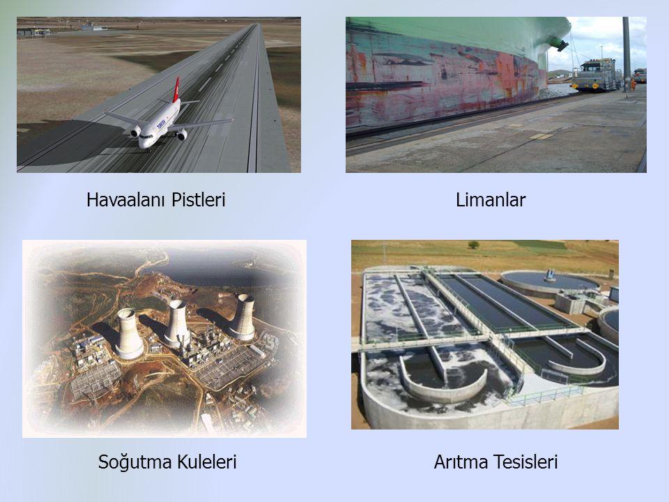 Havaalanı Pistleri Soğutma KuleleriArıtma Tesisleri Limanlar