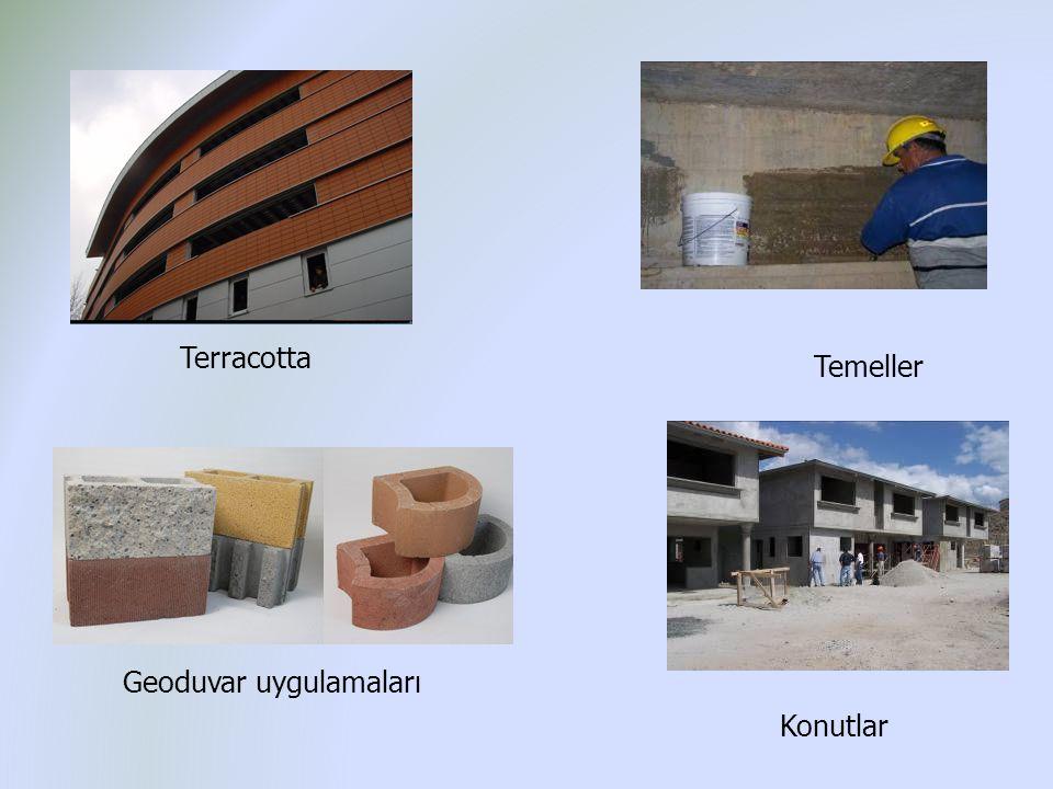 Terracotta Konutlar Temeller Geoduvar uygulamaları