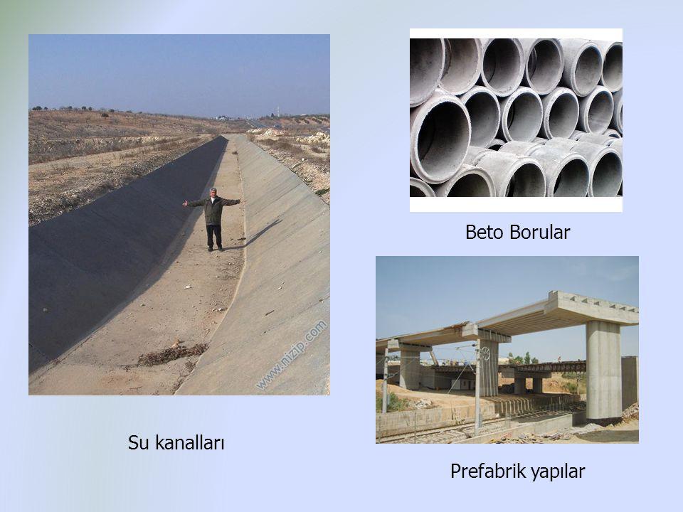 Su kanalları Beto Borular Prefabrik yapılar