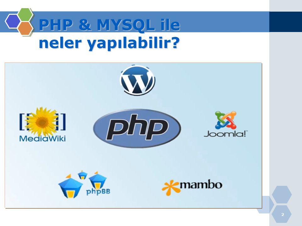 13 PHP'nin Çalışması