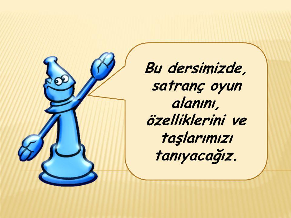 Bu dersimizde, satranç oyun alanını, özelliklerini ve taşlarımızı tanıyacağız.