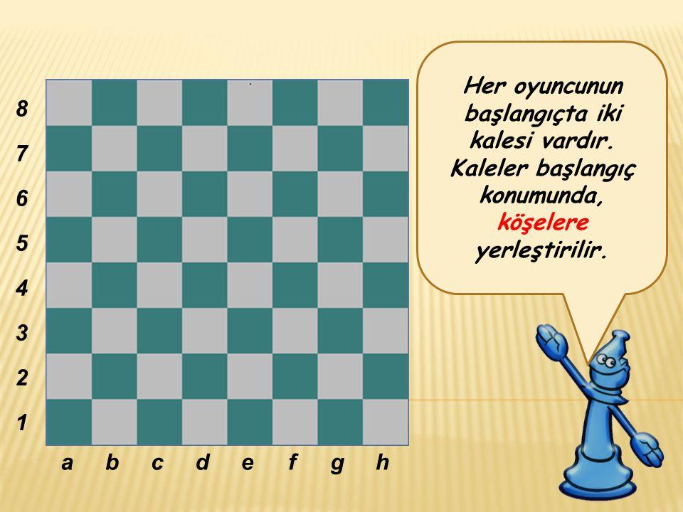 Her oyuncunun başlangıçta iki kalesi vardır.Kaleler başlangıç konumunda, köşelere yerleştirilir.