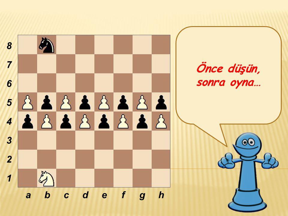 Önce düşün, sonra oyna… abcdefgh 8 7 6 5 4 3 2 1
