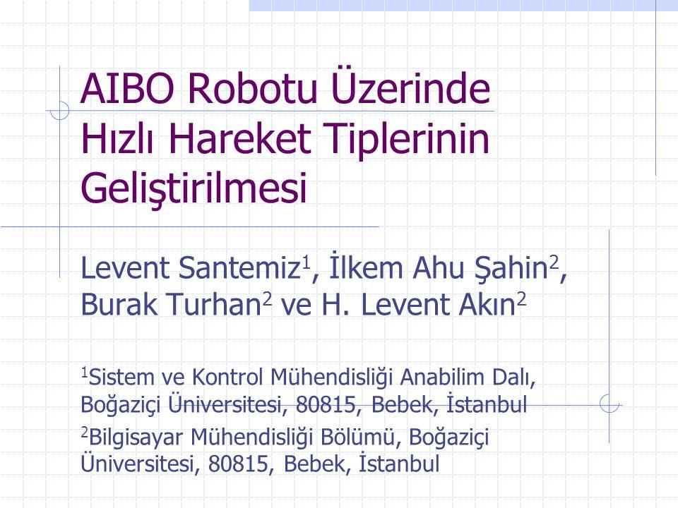 AIBO Robotu Üzerinde Hızlı Hareket Tiplerinin Geliştirilmesi Levent Santemiz 1, İlkem Ahu Şahin 2, Burak Turhan 2 ve H. Levent Akın 2 1 Sistem ve Kont