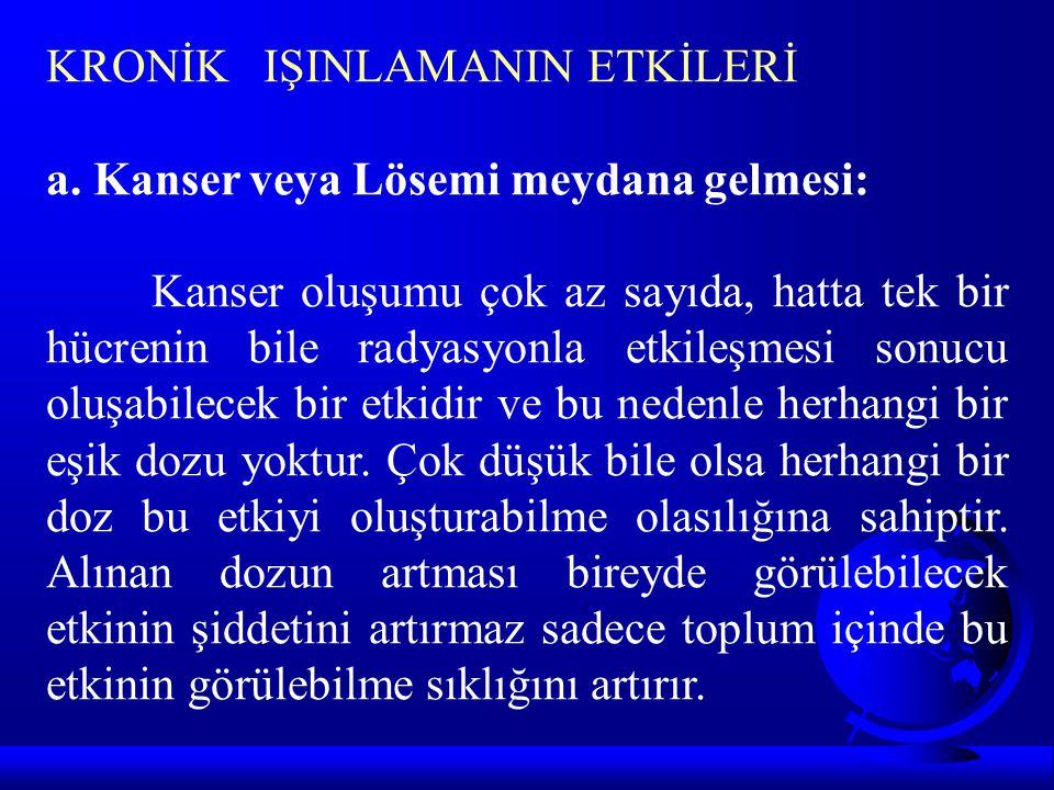 KRONİK IŞINLAMANIN ETKİLERİ a.