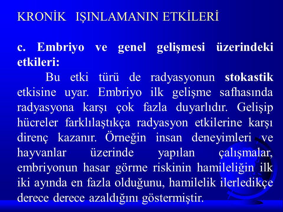 KRONİK IŞINLAMANIN ETKİLERİ c.