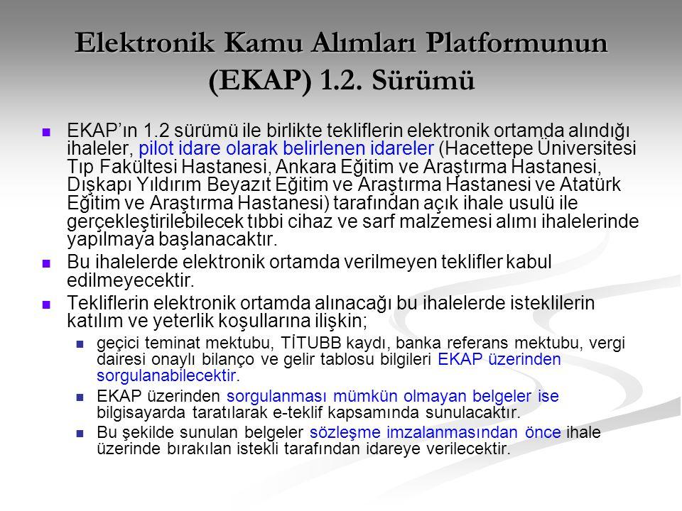 Elektronik Kamu Alımları Platformunun (EKAP) 1.2.