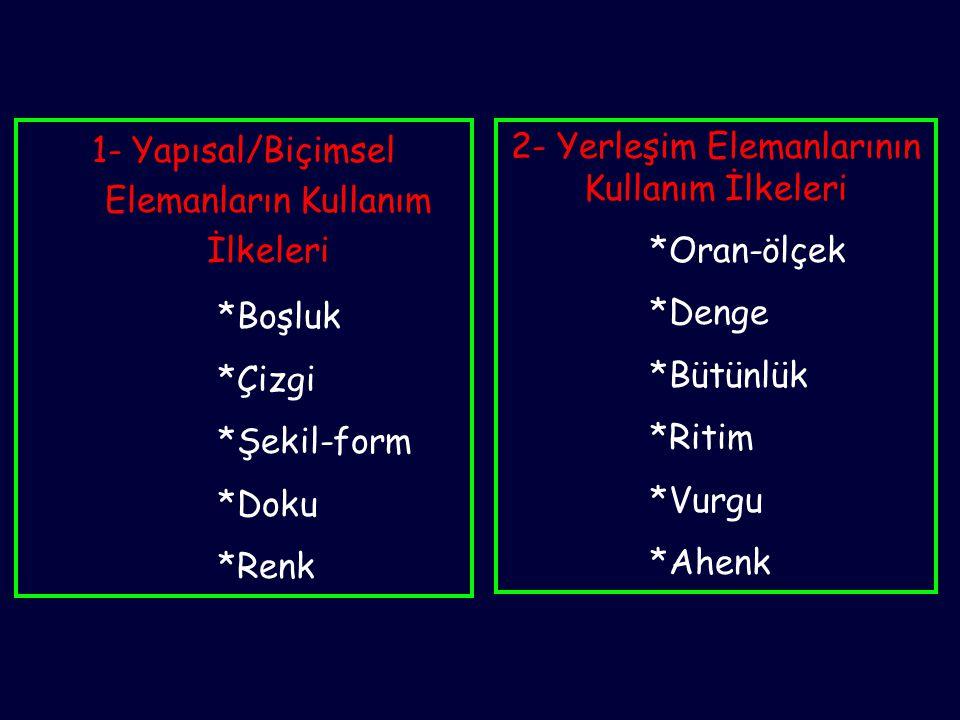 *Ritim 2- Yerleşim Elemanlarının Kullanım İlkeleri Kompozisyonda gözün bir objeden diğerine rahatça kayabilmesidir.