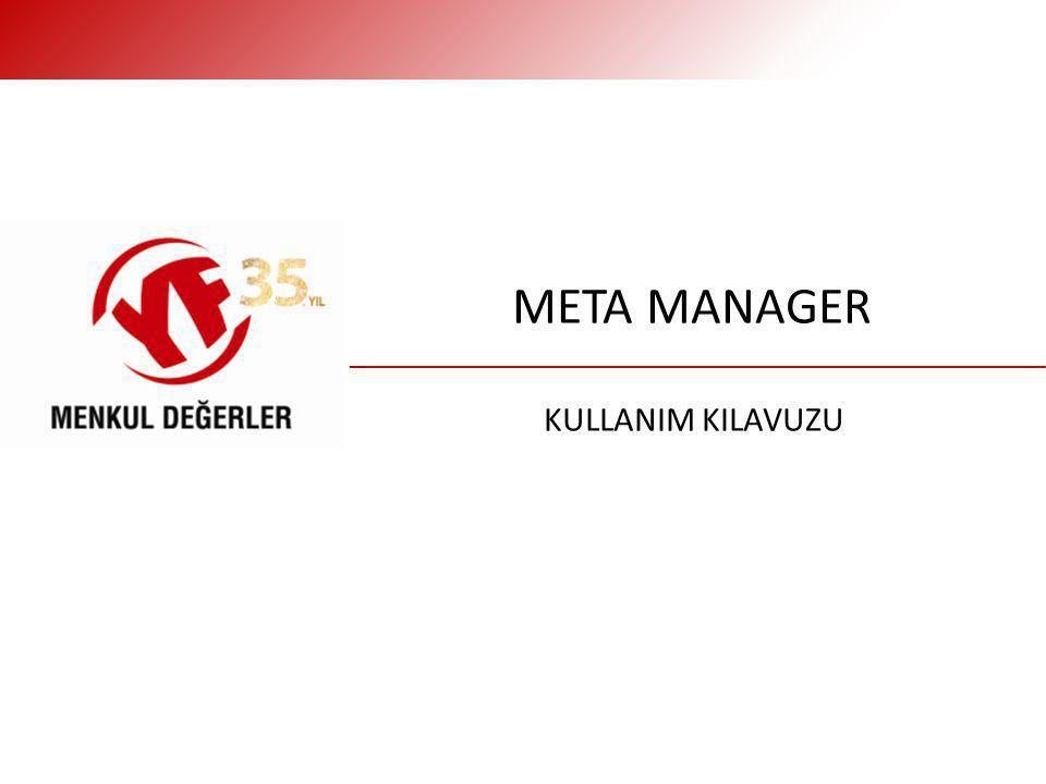 META MANAGER KULLANIM KILAVUZU