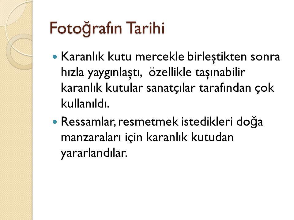 Foto ğ rafın Tarihi