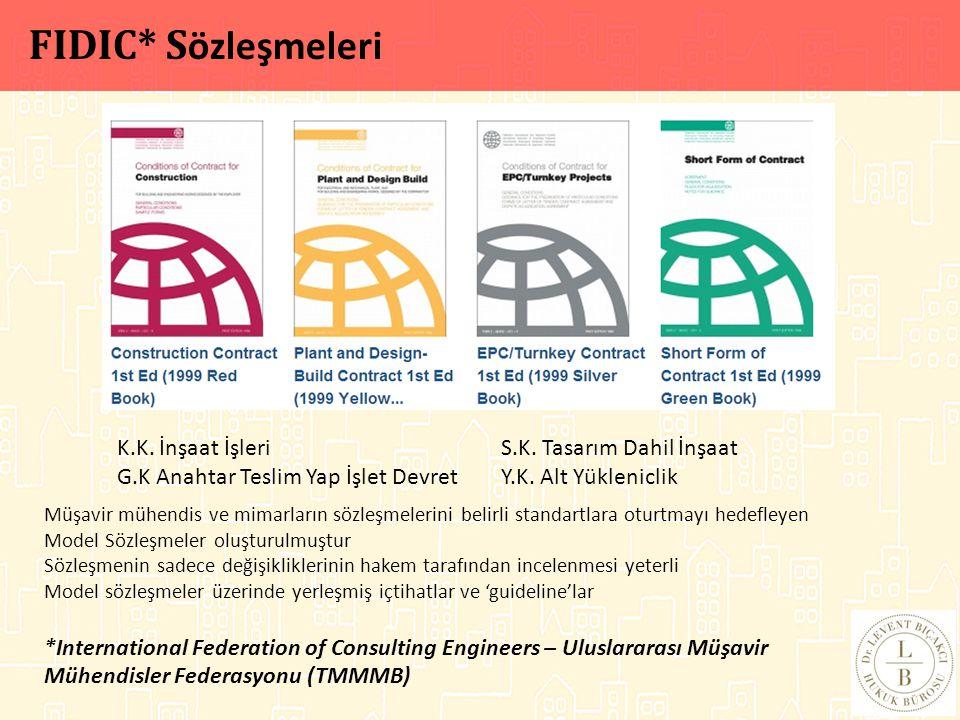 Müşavir mühendis ve mimarların sözleşmelerini belirli standartlara oturtmayı hedefleyen Model Sözleşmeler oluşturulmuştur Sözleşmenin sadece değişikli