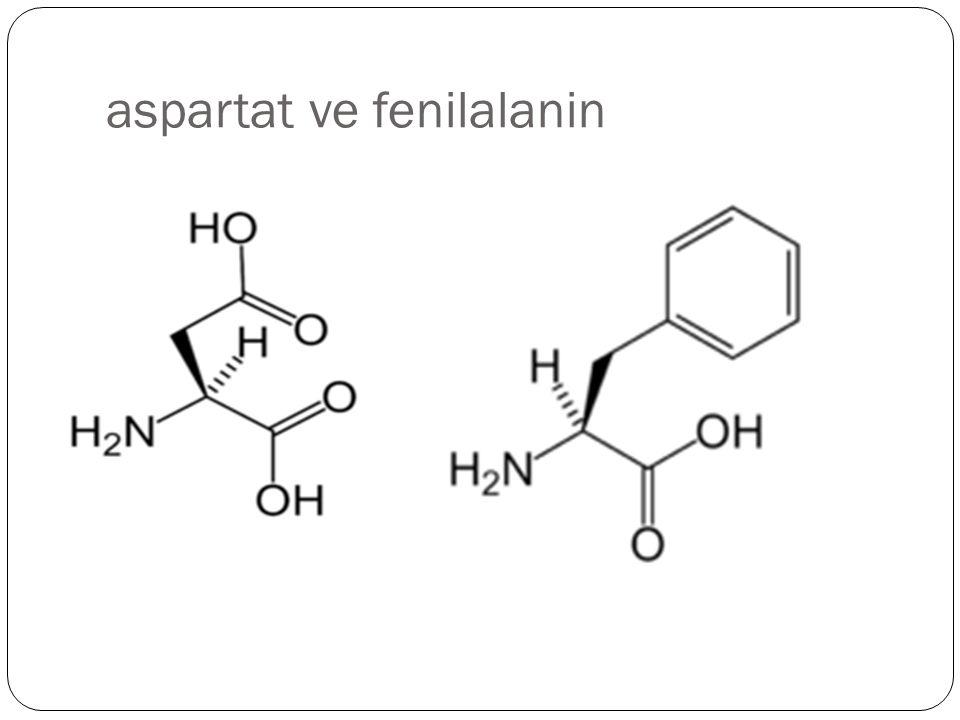 aspartat ve fenilalanin