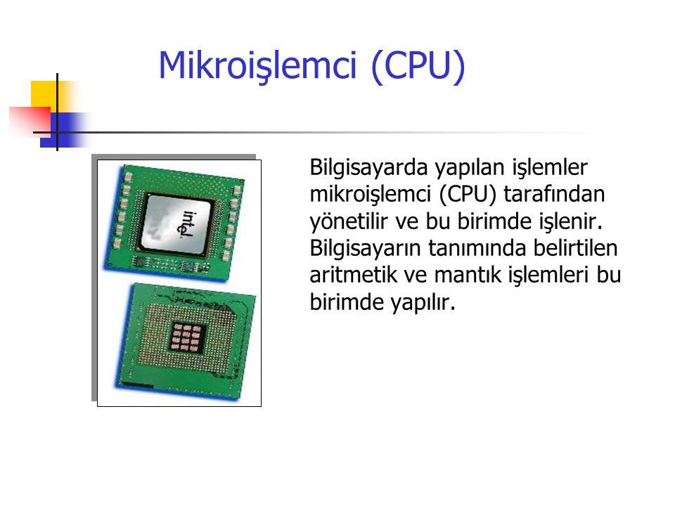 Ana Kart Ana kart, diğer donanım elemanlarının üzerine takıldığı elektronik devre kartıdır.