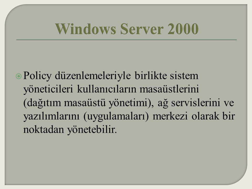  Şimdiye kadarki en güvenli Windows Server'dir.